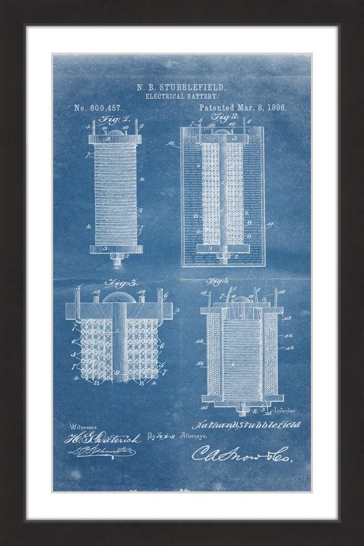12 best thomas edison patent drawings and prints images on pinterest battery 1898 blueprint malvernweather Image collections