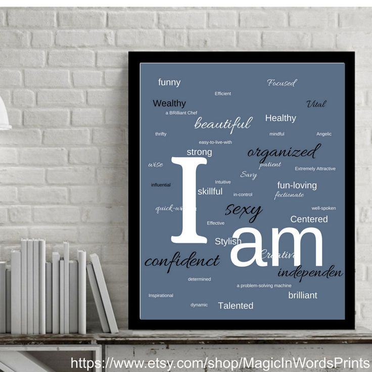 Print, Digital Artwork, Wall Art Print, Minimalist Style Decor, Gray, Black, White, Home Décor, Affirmation Wall Art, Motivational Printable by MagicInWordsPrints on Etsy