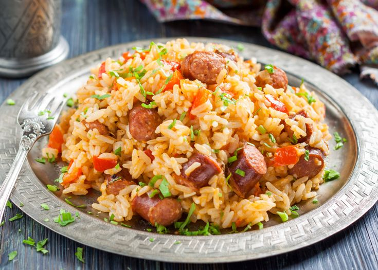 Allegro's Hot and Spicy Marinade kicks up the heat of this cajun stir fry recipe. This dish is hearty and perfect for feeding hungry football fans at your next Sunday party. #footballfood