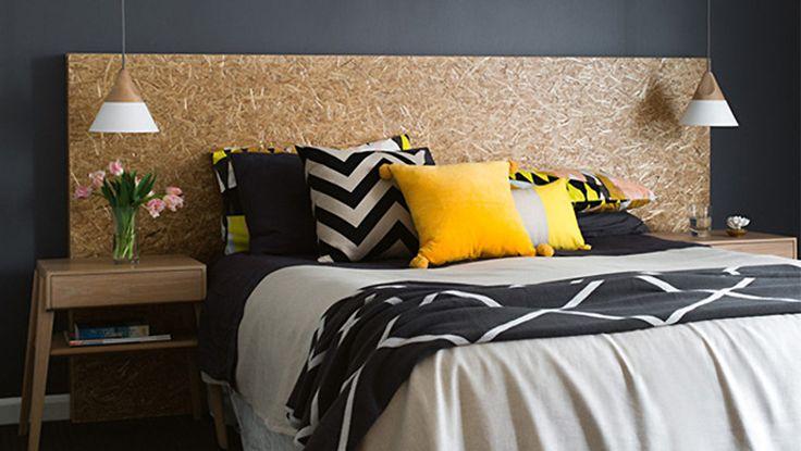 10 id es pour une t te de lit d co dans la chambre deco tape and masking - Tete de lit masking tape ...