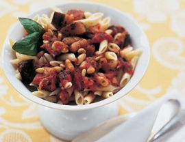 "Penne with Eggplant, White Beans and Tomato Sauce: ""Instead of all the ..."