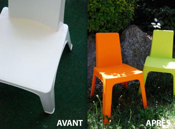 Repeindre son salon de jardin en plastique maison for Repeindre salon de jardin en plastique