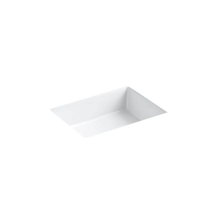 Kohler verticyl white undermount rectangular bathroom sink Kohler rectangular undermount bathroom sink