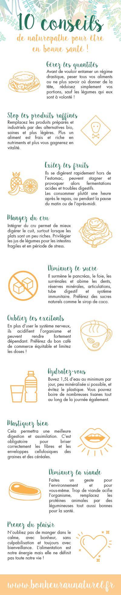 10 clés en naturopathie pour une alimentation saine !