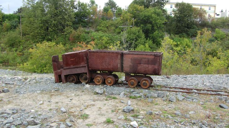 Old mine cars at the Right-of-Way Mine site.