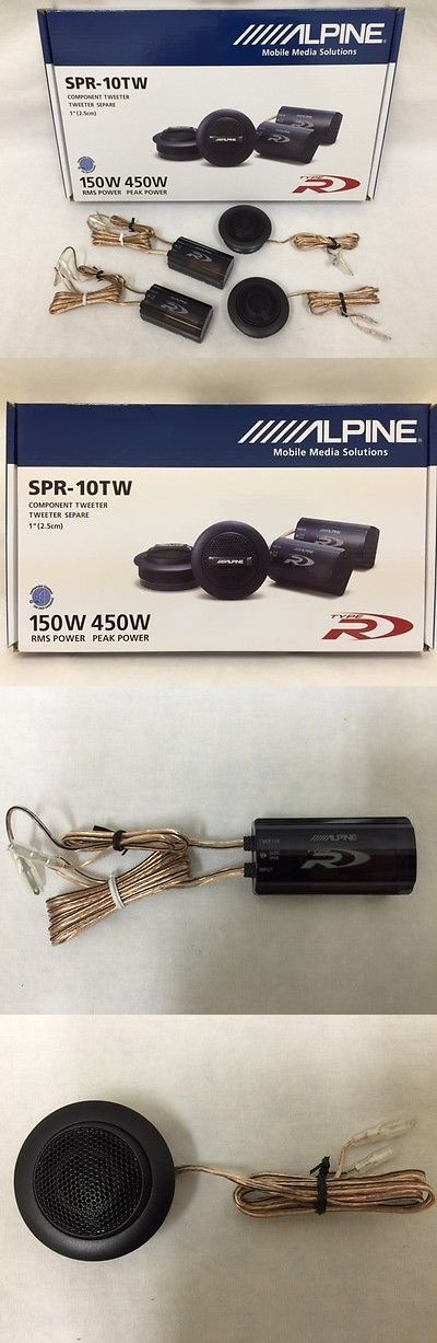 Car Speakers and Speaker Systems: Alpine Spr-10Tw 1 Silk Ring Dome Car Audio Tweeters With Crossovers (Pair) -> BUY IT NOW ONLY: $69.55 on eBay!