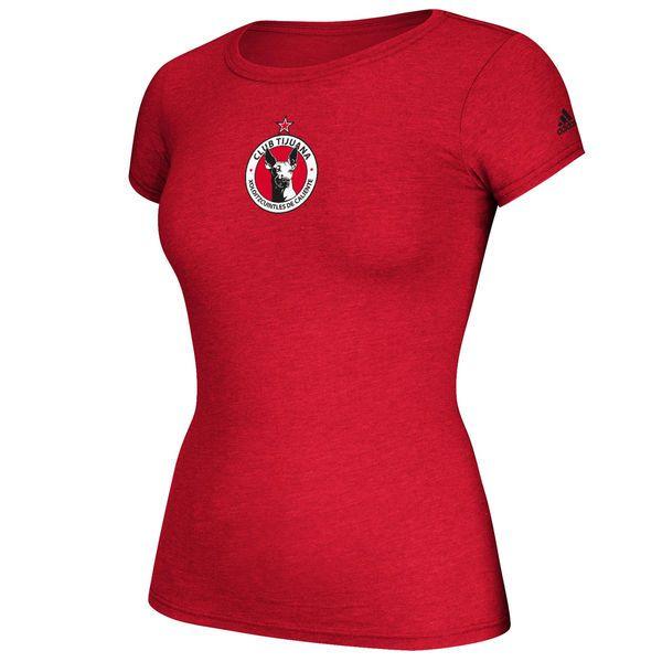 Club Tijuana adidas Women's Team Crest Cap Sleeve T-Shirt - Red - $25.99