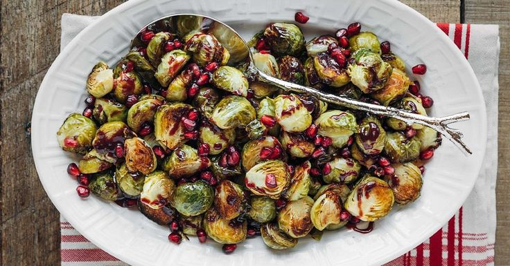 Roasted Brussels Sprouts with Pomegranate Glaze | Striped Spatula   – Recipes