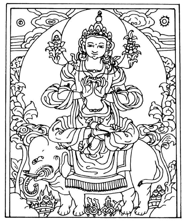 coloring pages buddah - photo#19