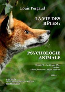 Pergaud Louis - La Vie des Bêtes : Psychologie animales - Bibliothèque numérique romande - Martin Pettitt Profil d'une tête de Renard roux