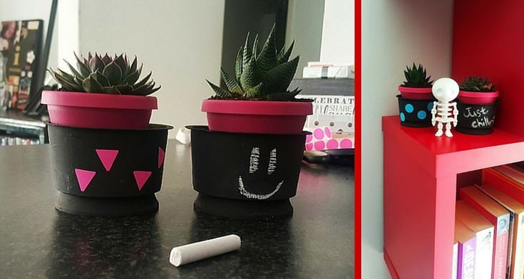 Add trendy touch to your bookcase, coffee tables or office with these funky easy-to-make plant pots…