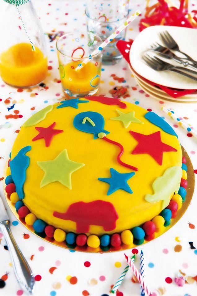 Verjaardagstaart  -  Hiep hiep hoera! Er is er een jarig! Bak jij als verrassing deze lekkere verjaardagstaart?