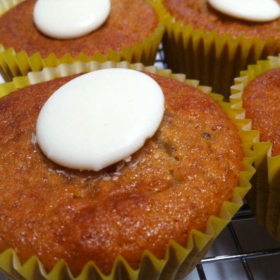 Banana & White Chocolate Cupcakes