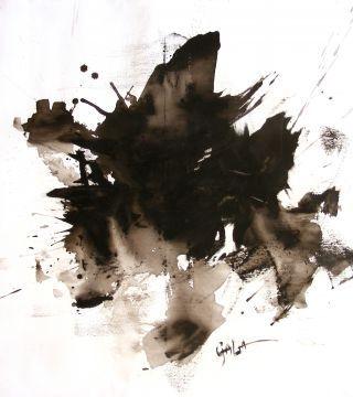 Абстрактный-черный, 27,5x33,4in.  (70х85cm), акрил на холсте