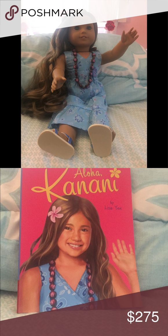 American Girl doll kanani Is excellent condition with full meet and necklace . I purchased this used for $350 and was never removed from box when rec'd feel free to ask any questions . Comes in hospital box , box has a few tears but still looks good Other