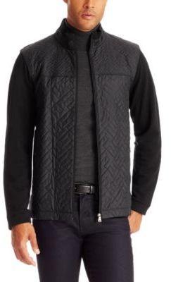 HUGO BOSS 'Pizzoli' - Cotton Quilted Sweatshirt Jacket on shopstyle.com
