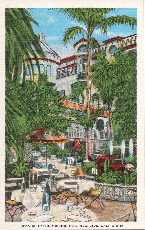 Mission Inn Courtyard Riverside CA Uncirculated PC by 313WMain, $6.00