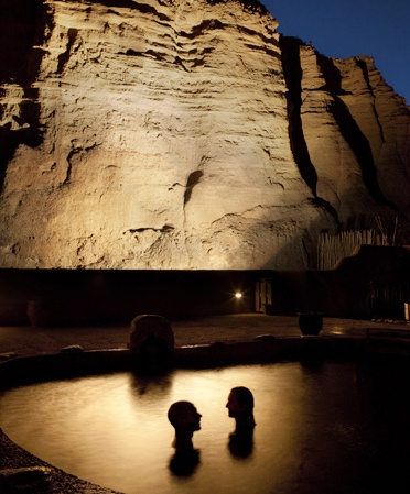 Ojospa.com... private Kiva pools @ night, such a beautiful place. Been here once, i will go again! Ojo Caliente www.ojospa.com