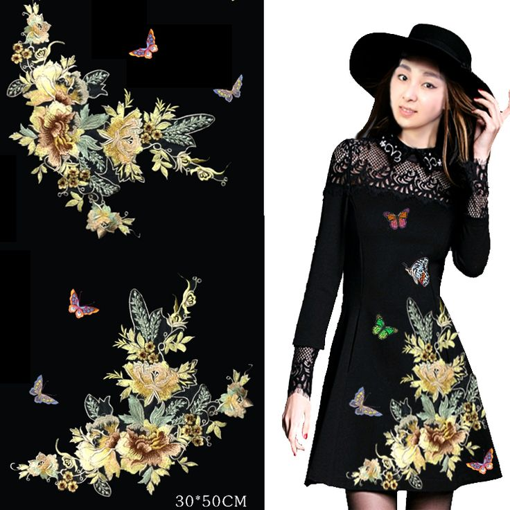 1 Group 3D Lace Patch Fabric Peony Applique Computer Embroidered Flowers Stage Clothes Diy Accessories RS937-in Lace from Home & Garden on Aliexpress.com | Alibaba Group