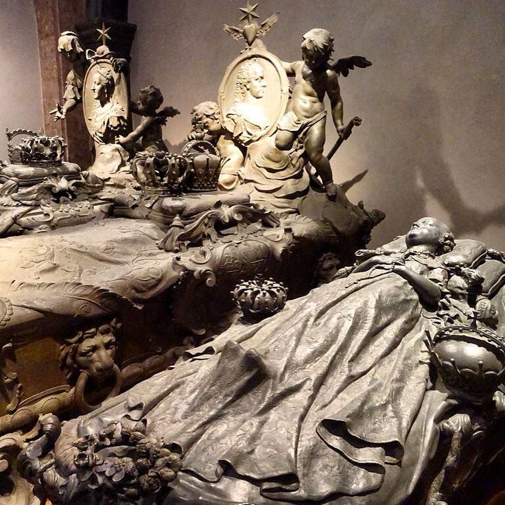 Vienna - the Habsburg tombs in the crypt of the Capuchin church, elaborate, crowded, pompous and touching (especially those who played barely a bit part in history).