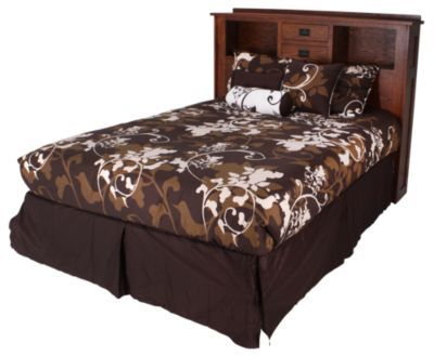 Homemakers Furniture Two Drawer King Headboard Daniel 39 S Amish Bedroom Beds Bed Over Heels