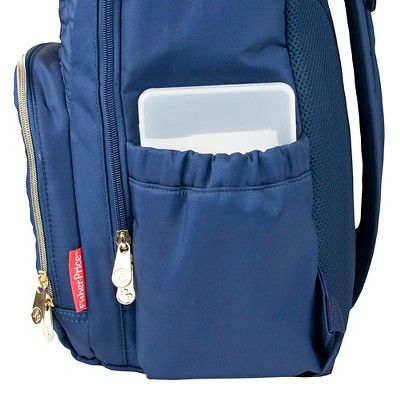 Fisher-Price Classic Quilted Backpack Navy, Classic Navy