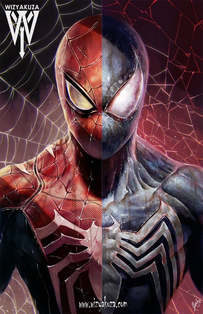 Marvel Venom Half Spider-Man Villian Comic Adult Men/'s Graphic Long Sleeve Shirt