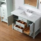 Martha Stewart Living Sutton 48 in. W x 22 in. D Vanity in Rainwater with Marble Vanity Top in White/Grey with White Basin SUTTON 48RW at The Home Depot - Mobile
