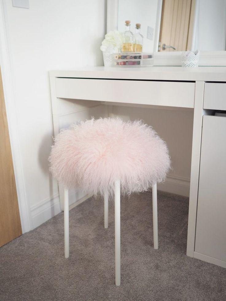 5 minute fluffy stool diy tutorial fluffy stool diy