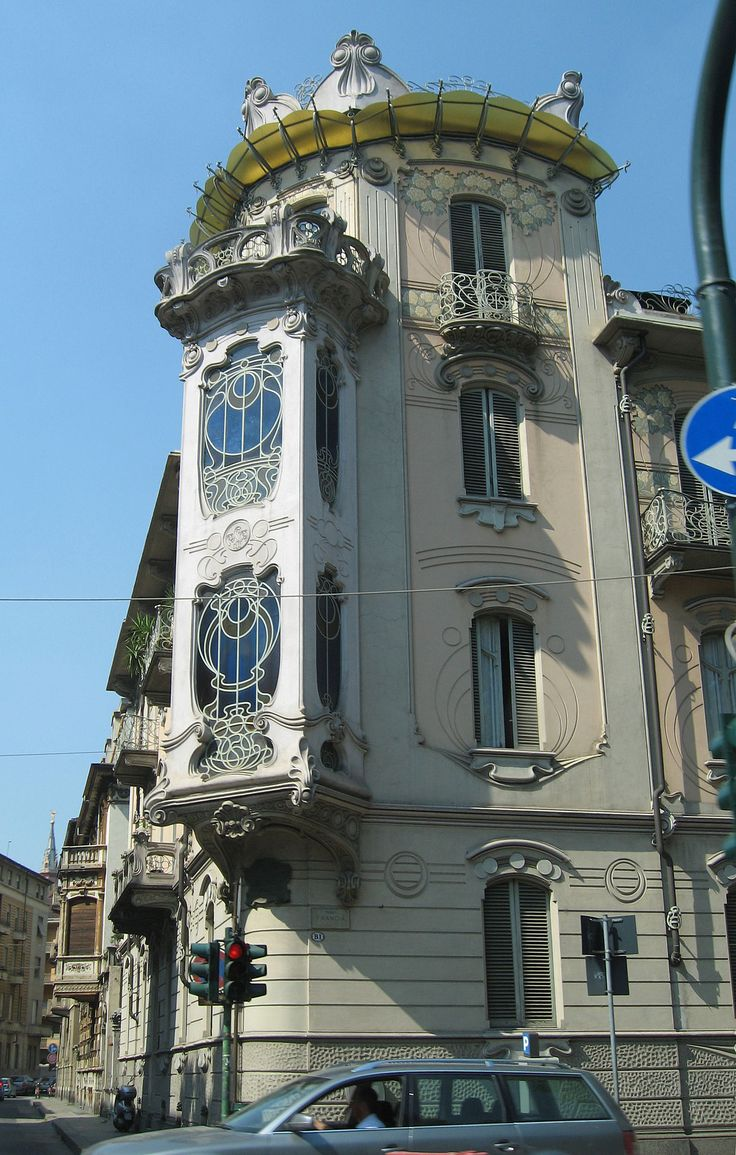 Architettura. Pietro Fenoglio, Casa Fenoglio-Lafleur (1902) a Torino, 1902.