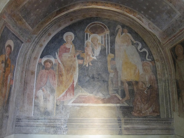 Fresco in the church of Capalbio, Costa d'Argento, Maremma, Tuscany, Italy