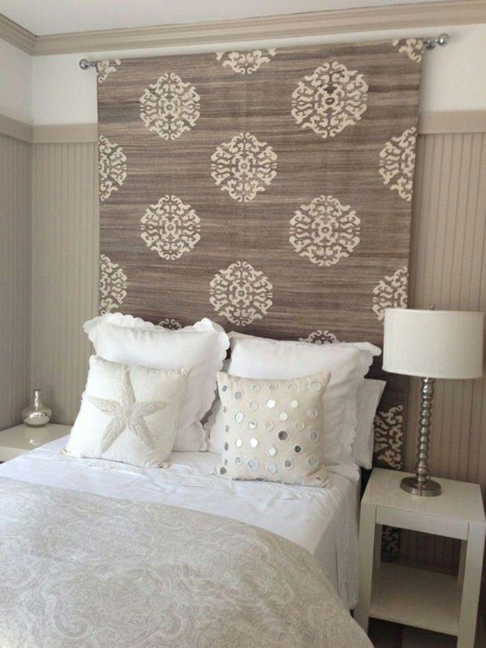 die 25 besten ideen zu stoff kopfteil auf pinterest schlafzimmer tapetenmuster. Black Bedroom Furniture Sets. Home Design Ideas