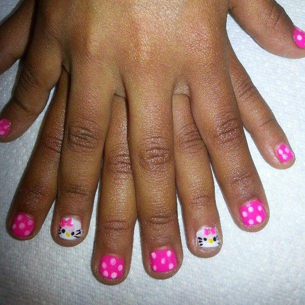 tinanailshighlandparks photo little girl hello kitty design tina doshi nails - Little Girl Nail Design Ideas