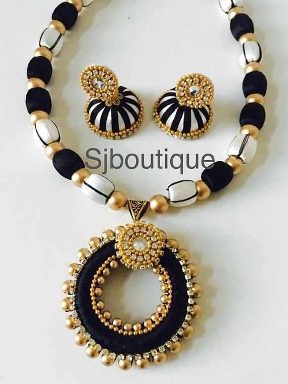 Silk Thread Necklace Sets