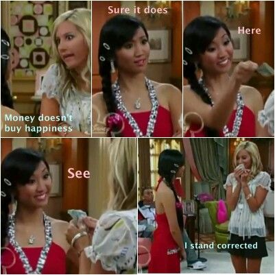 The suite life of zack and cody _ maddie and london. Money does buy happiness? Got to admit, sometimes it does