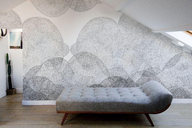 amazing wallpaper! #homes #designDecor, Wall Art, Wall Pattern, Minakani Wall, Interiors, Wall Treatments, Cloudy Wallpapers, Wallpapers Design, Wall Design