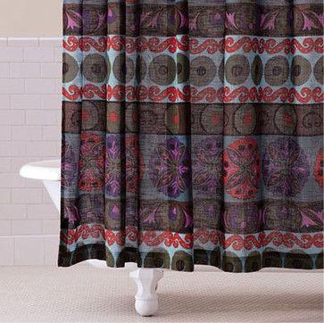 29 - Gypsy Suzani Shower Curtain - mediterranean - shower curtains - Cost Plus World Market