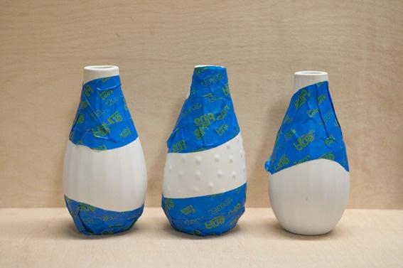 DIY Dipped Flower Vases  @ScotchBlue Painter's Tape Painter's Tape