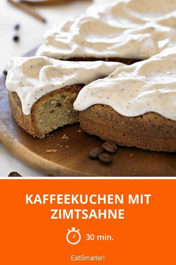Kaffeekuchen mit Zimtsahne | http://eatsmarter.de/rezepte/kaffeekuchen-mit-zimtsahne