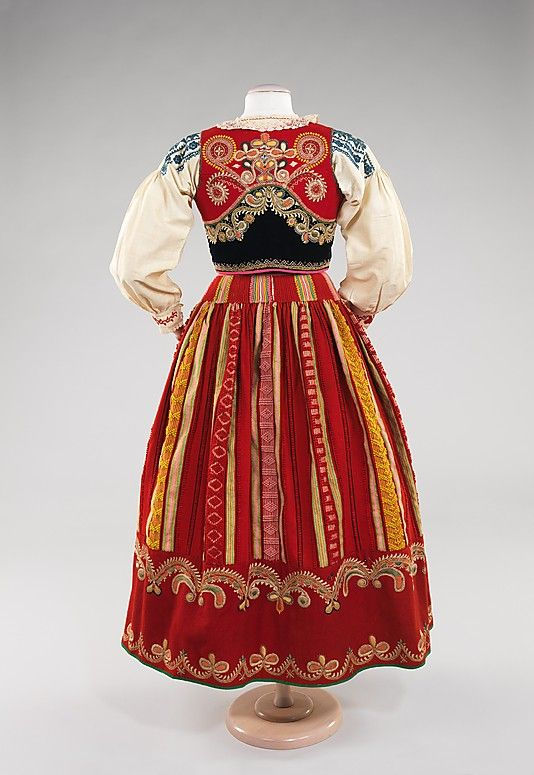 Ensemble Date: fourth quarter 19th century Culture: Portuguese Medium: wool, silk, cotton, metal, glass