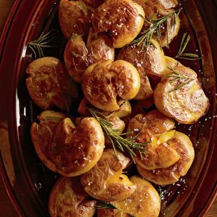 Crispy Smashed Potatoes. I have seen these for years in their catalog, but have yet to try them. They look so good! Who doesn't like Yukon Gold potatoes, in any form? We can't go wrong!