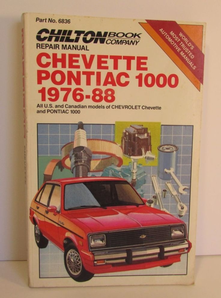1976-1988 Chilton Repair Manual Chevette Pontiac 1000
