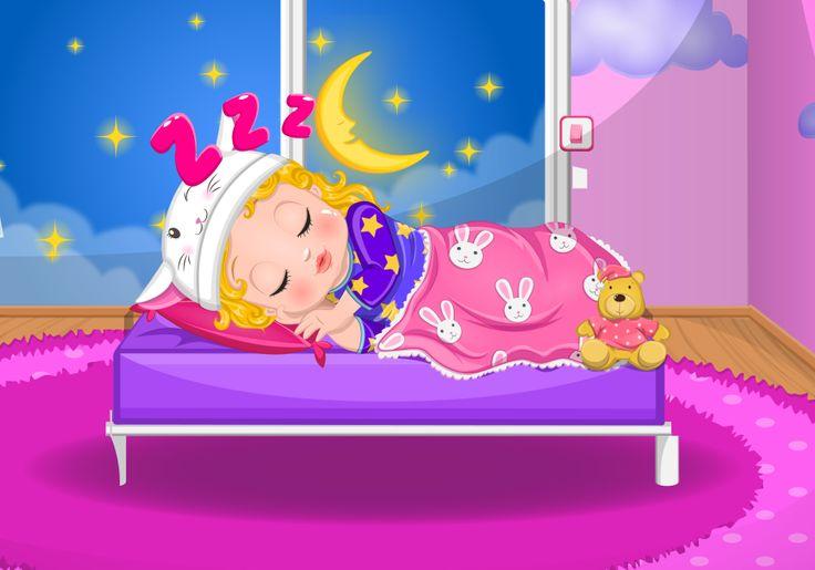 Barbie's Baby Bedtime  http://www.enjoydressup.com/baby-games/barbies-baby-bedtime-8646.html