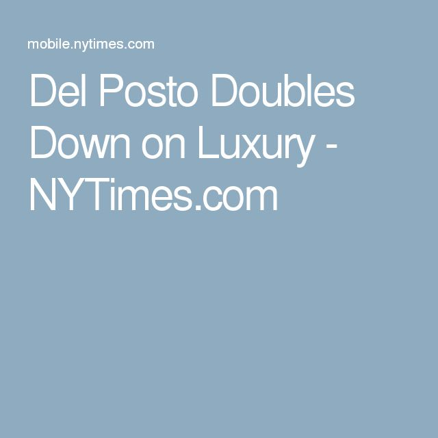 Del Posto Doubles Down on Luxury - NYTimes.com