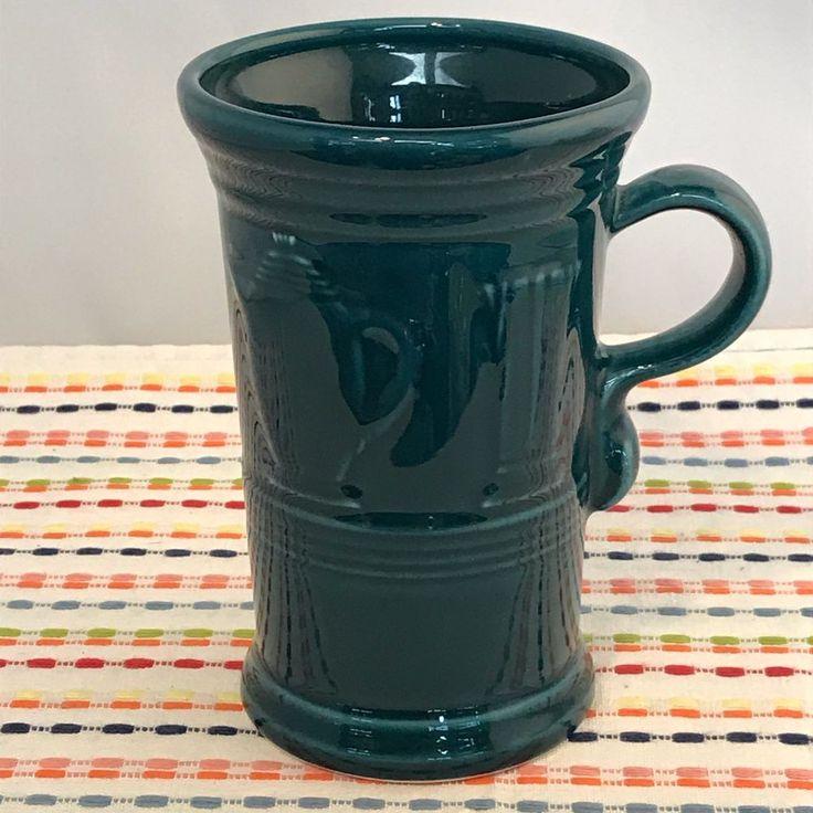 Fiestaware Juniper Cappuccino Mug Fiesta Retired Teal Green 21 oz Mug NWT #fiesta #fiestaware #mug #cappuccino #giftideas