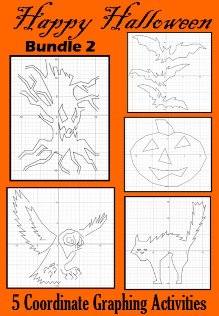 Halloween Bundle 2 5 Coordinate Graphing Activities