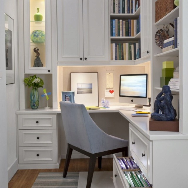 Corner Home Office Nook This Is Great For A Small Waste No Space