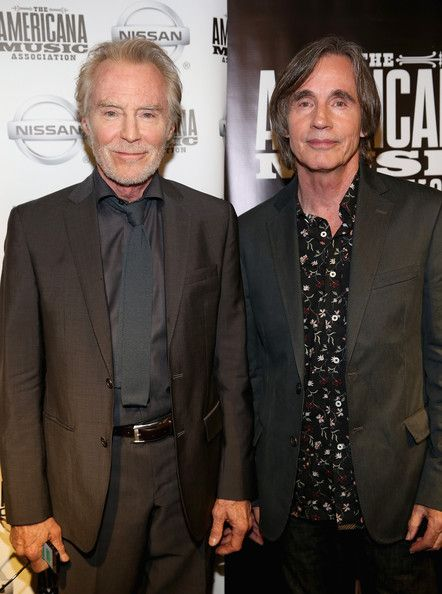 Jackson Browne and J.D. Souther Photos - J. D. Souther and Jackson Browne pose backstage at the 13th annual Americana Music Association Honors and Awards Show at the Ryman Auditorium on September 17, 2014 in Nashville, Tennessee. - Americana Music Festival Show