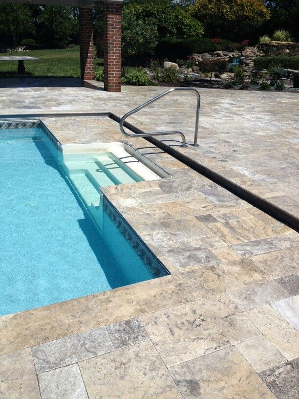 Silver Travertine Patio Overlay My Projects In 2019