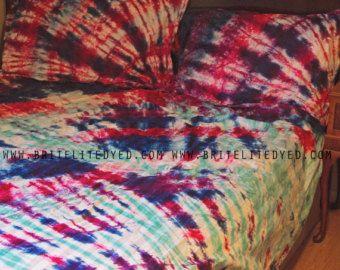 Bedding Sheets Tie Dye Bedding Bed Sheet Set Tie by BriteLiteDyed